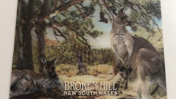 Naujojo Pietų Velso miesto Broken Hill atvirukas, kurį žurnalistės motina atsiuntė į Londoną.