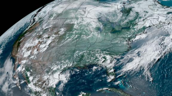Wildfire smoke (milky white appearance) is shown on this satellite image from Wednesday afternoon.
