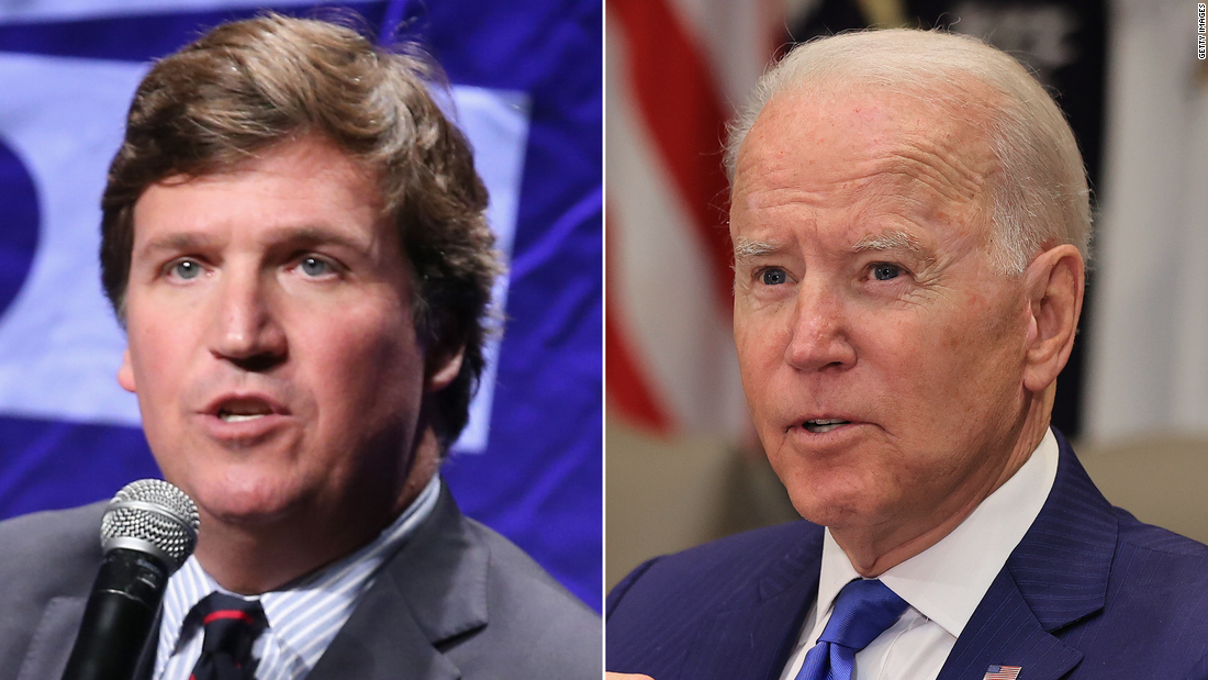 Analysis: Tucker Carlson rails against vaccination campaign at the same time Biden credits Fox