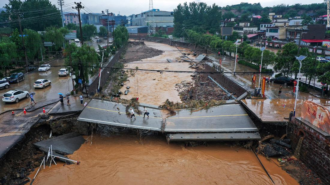 Report-breaking rains devastated central China, however there's little discuss of local weather change