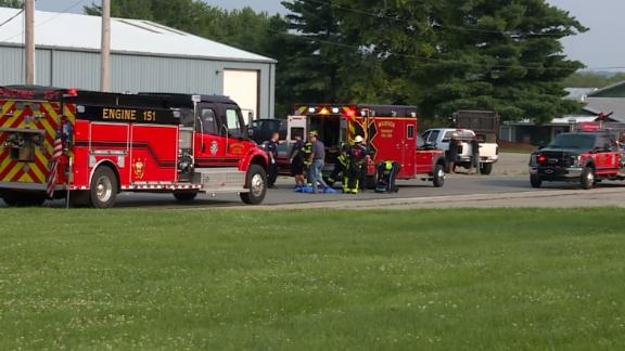 Emergency workers respond to a call Tuesday about the drowning at Land of Illusion Adventure Park.