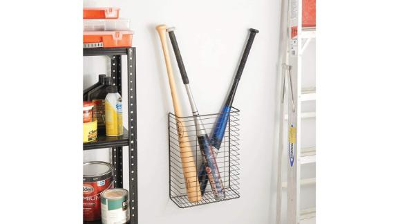 mDesign metal wire storage organizer for wall mounting