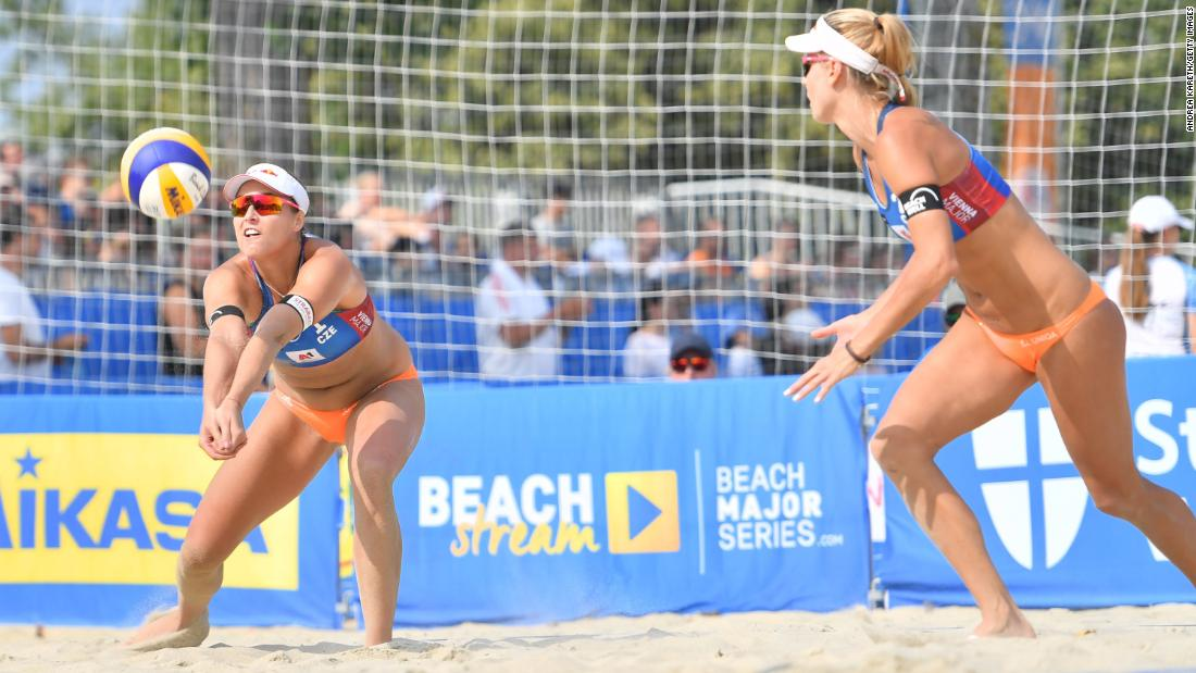 Beach volleyball player Markéta Sluková-Nausch left in tears as Czech star misses Olympics due to positive Covid-19 result