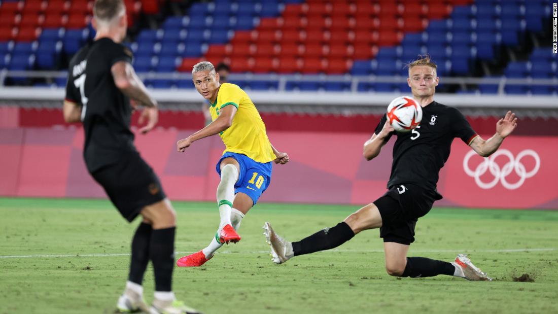 Brazil vs. Germany: Defending Olympic champion Brazil defeats Germany in  rematch of 2016 men's football final - CNN