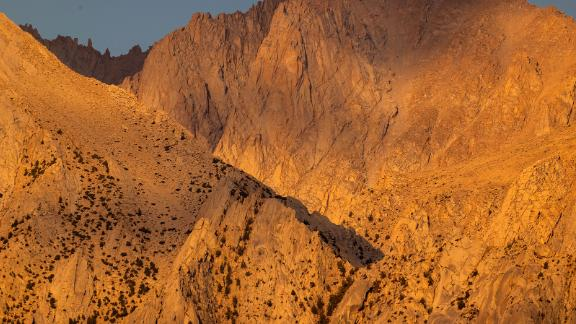 These peaks of the Sierra Nevada mountain range, near Lone Pine, California, often have snow packs that last throughout the summer months. But there were none on July 18.