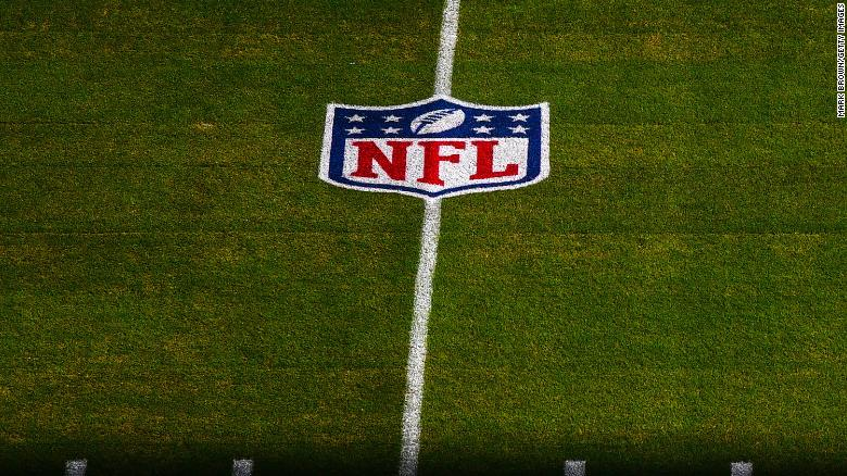 MIAMI GARDENS, FLORIDA - NOVEMBER 01:  The NFL shield logo on the field prior to the game between the Miami Dolphins and the Los Angeles Rams at Hard Rock Stadium on November 01, 2020 in Miami Gardens, Florida. (Photo by Mark Brown/Getty Images)