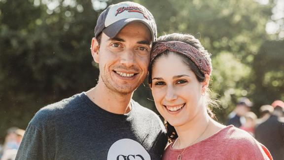 Elliot Pepper, with his wife, Shira, said her parents have shown by their example how to use money well to benefit family and not just indulge in creature comforts.