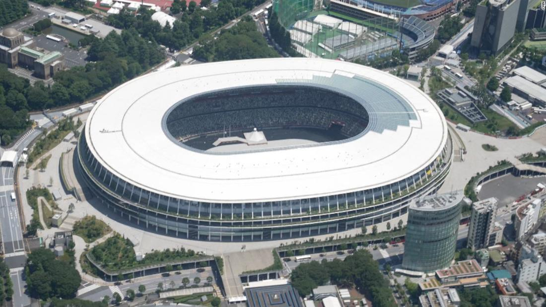 See Tokyo 2020 Olympics from above