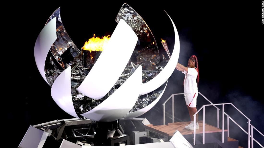 Osaka lights Olympic cauldron at opening ceremony