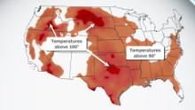 Massive heat dome brings yet another heat wave, this time covering most of the US