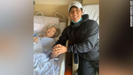 Sinok Koh and her grandson Michael Roh earlier this year.