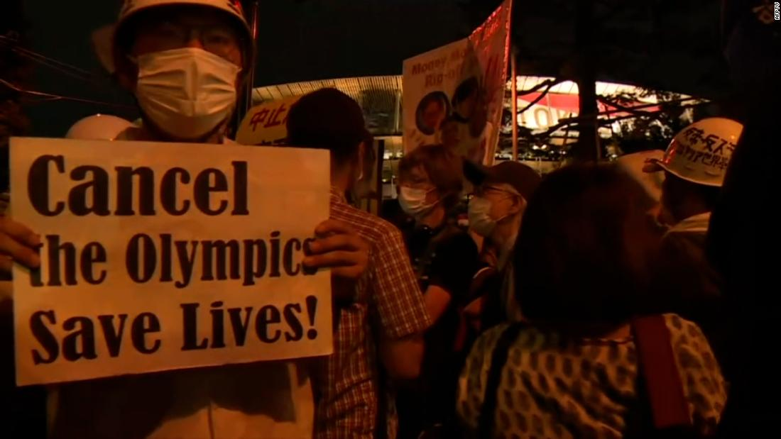 See protesters outside Olympics opening ceremony