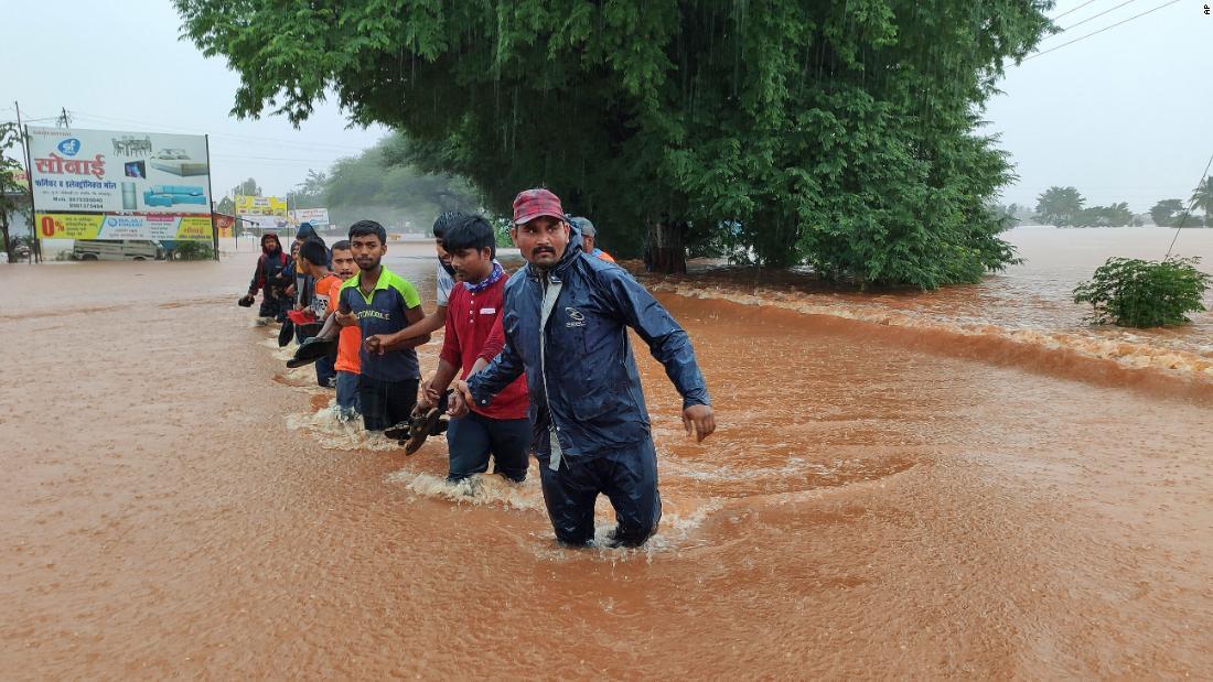 At least 180 dead in India as rains trigger floods, landslides