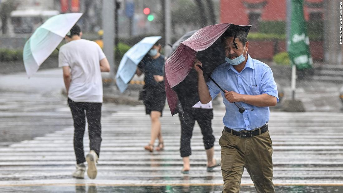 China was reeling from record flooding. Now a typhoon is barreling in