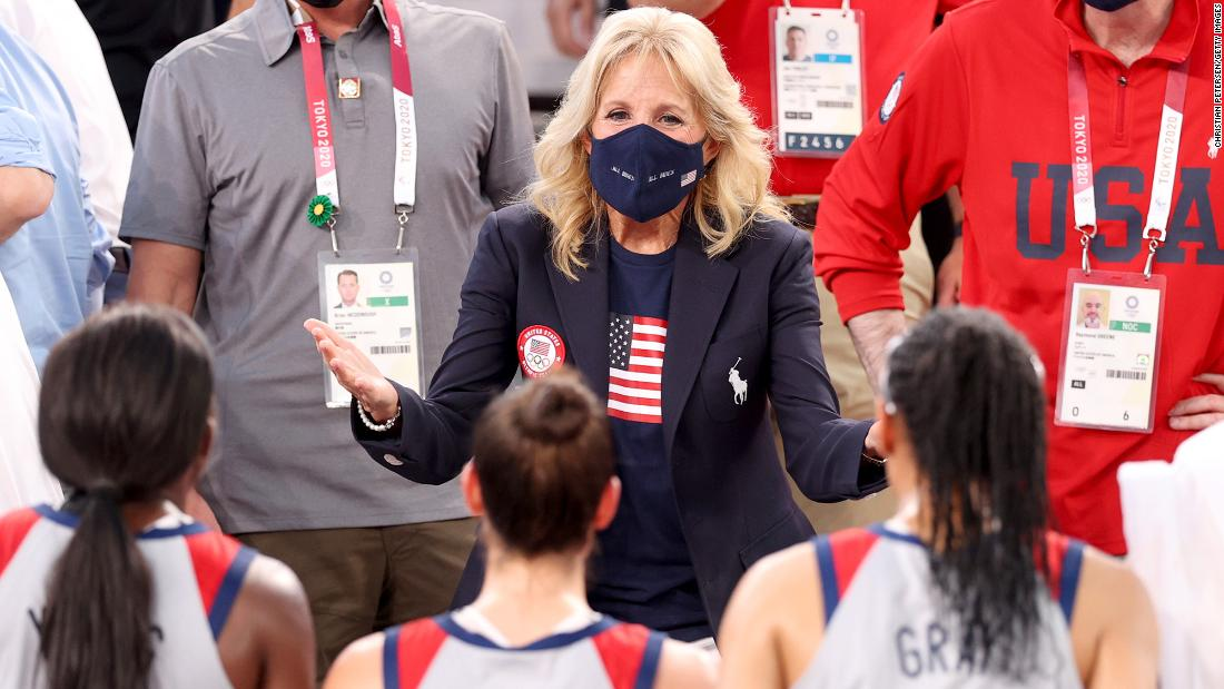 Jill Biden brings a dose of normalcy to Olympic Games amid a pandemic