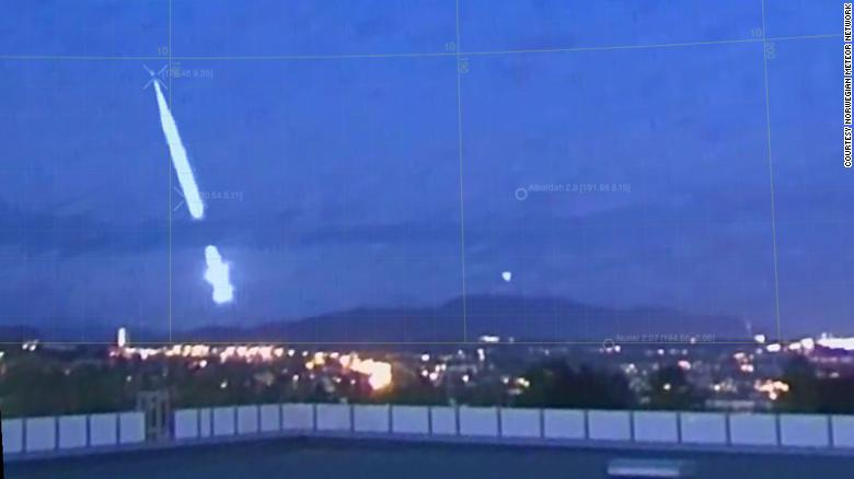 The meteor probably fell about 15 miles outside Oslo, experts said.