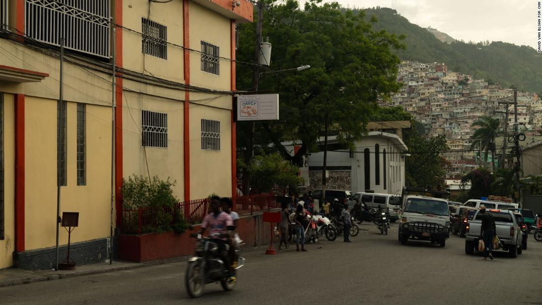 The Port-au-Prince street where investigators examined bodies apparently belonging to Colombians Mauricio Javier Romero and Giraldo Duberney Capador.