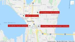 4 shootings in Seattle depart 3 useless, 5 injured