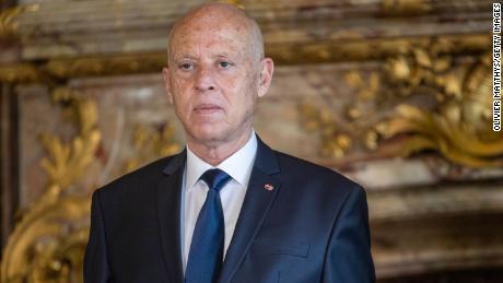 Le président de la République tunisienne Kais Saied reçu au Palais Royal à Bruxelles, en Belgique, le 3 juin 2021