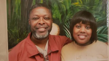 Curtis Crosland and his daughter Wadiyah posed for this picture while Crosland was still in prison.
