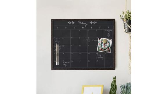 Wood Frame Chalkboard Calendar