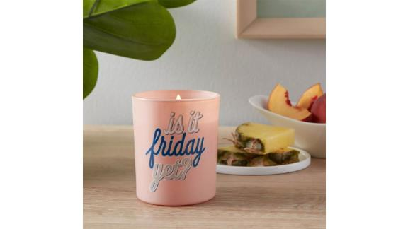 Glass Jar 'Is It Friday Yet?' Candle