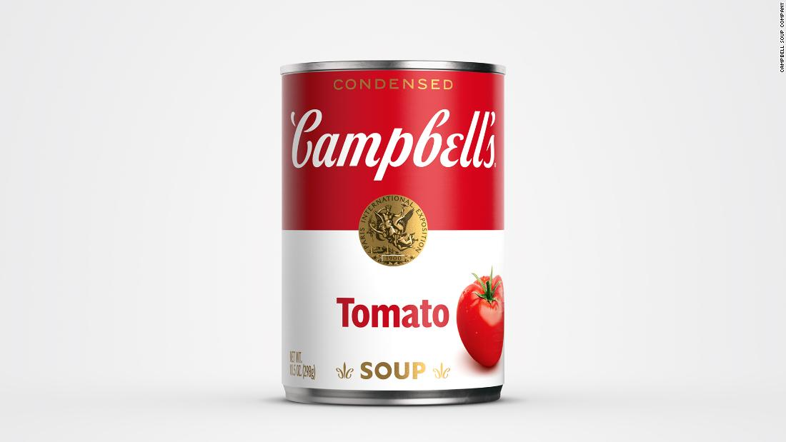 Campbell's soup cans get first redesign in 50 years