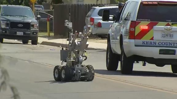 Law enforcement used a robot during a standoff that left one deputy dead and another injured in Kern County Sunday.