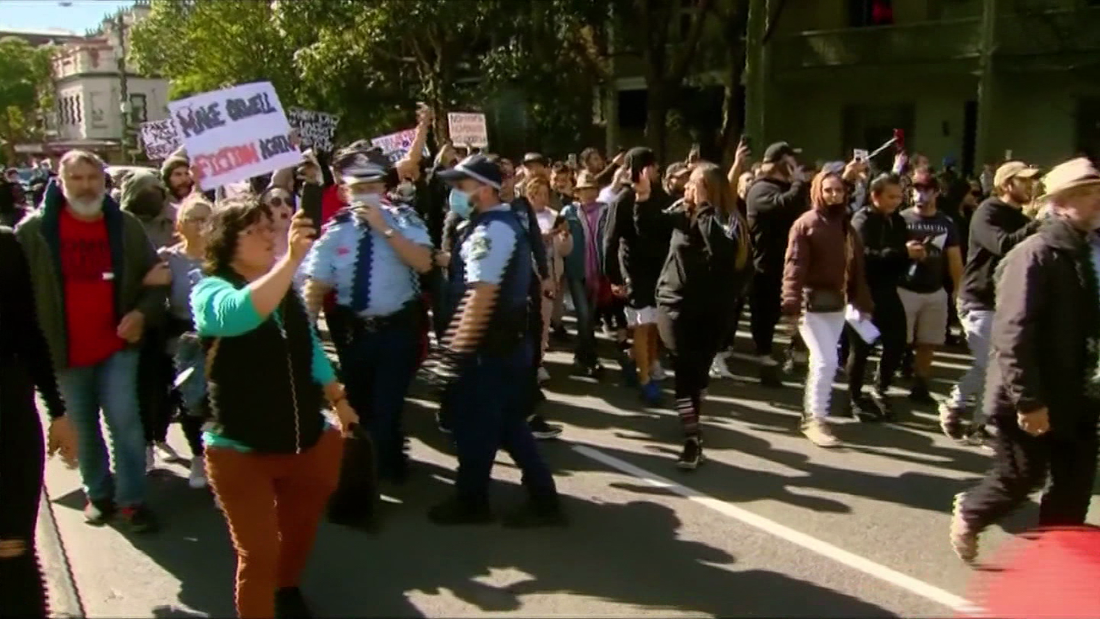 Australian PM calls anti-lockdown protesters 'reckless' and 'self-defeating'
