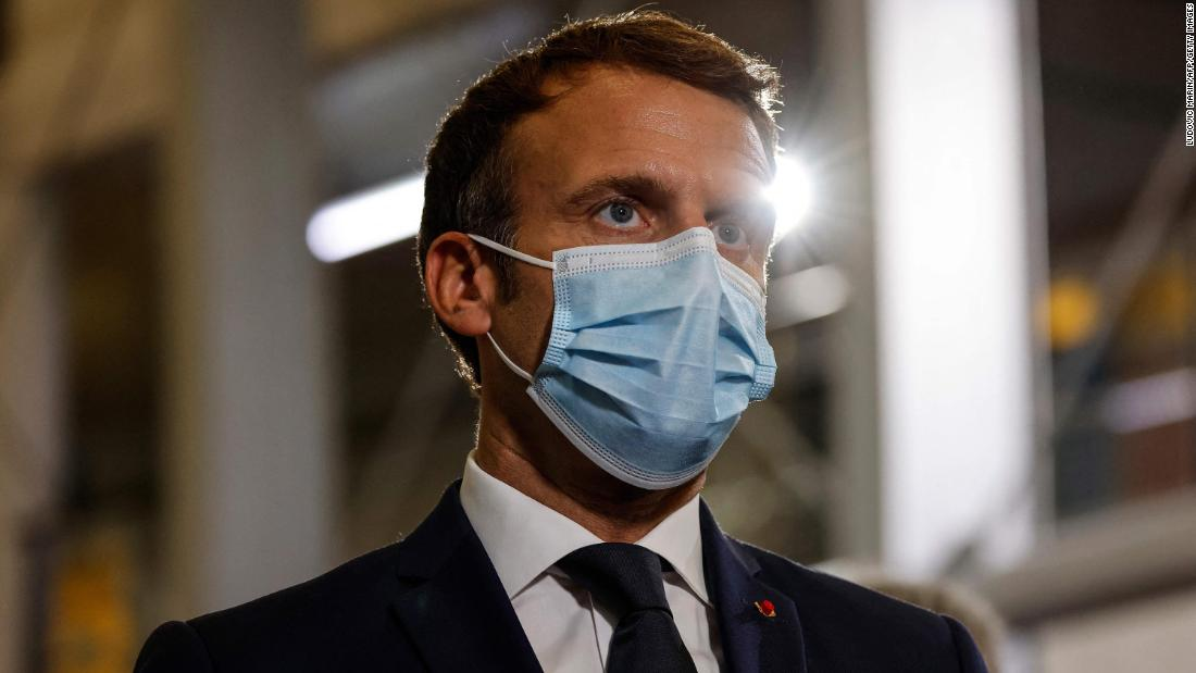 See what Macron said about anti-vaccine protesters
