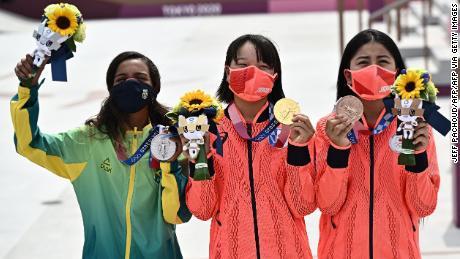 Momiji Nishiya, 13-year-old skateboarder, wins gold at the Olympics' first women's final - CNN
