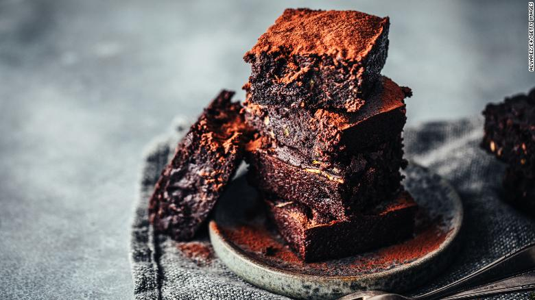 Zucchini is the secret ingredient in these chocolate brownies.