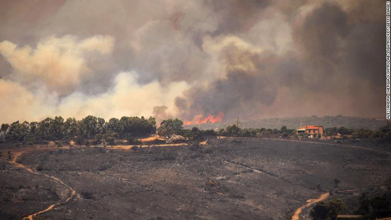 Wildfires scorch southern Europe from Spain to Sardinia
