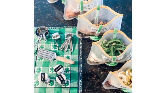 Baggy Rack Holder for Food Prep, 4-Pack