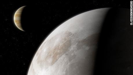 Hubble a descoperit vapori de apă în jurul lunii lui Jupiter, Ganimedes