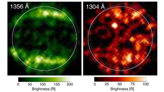 1998 年,哈勃拍摄了这些木卫三的第一张紫外线图像。