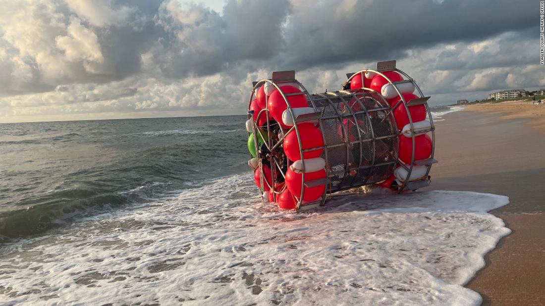Man's plan to walk on water from Florida to NY in floating 'bubble' ends after less than a day