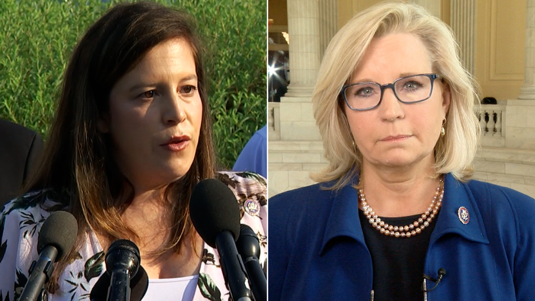 See Liz Cheney's reaction after GOP leader blames Pelosi for insurrection