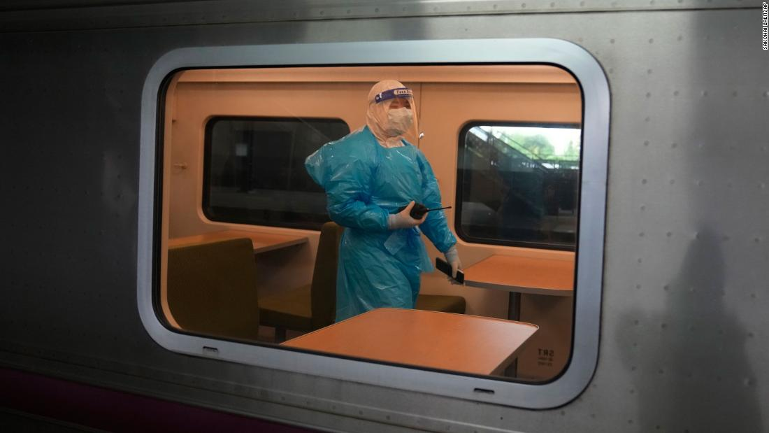 Thailand sends Covid patients home on trains as outbreak worsens
