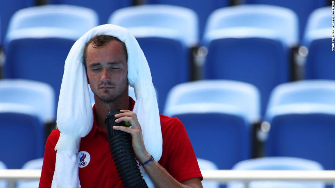 Tennis star asks 'who will take responsibility if I die?' in scorching Tokyo heat