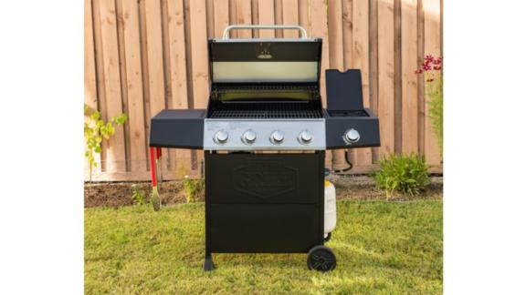 Expert Grill 4 Burner + Side Burner Gas Grill With Stainless Steel Lid