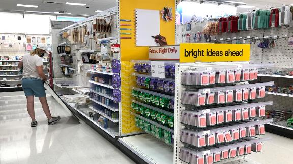 Back-to-school supplies are displayed at a Target last year.