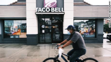 Une cloche à tacos à New York.