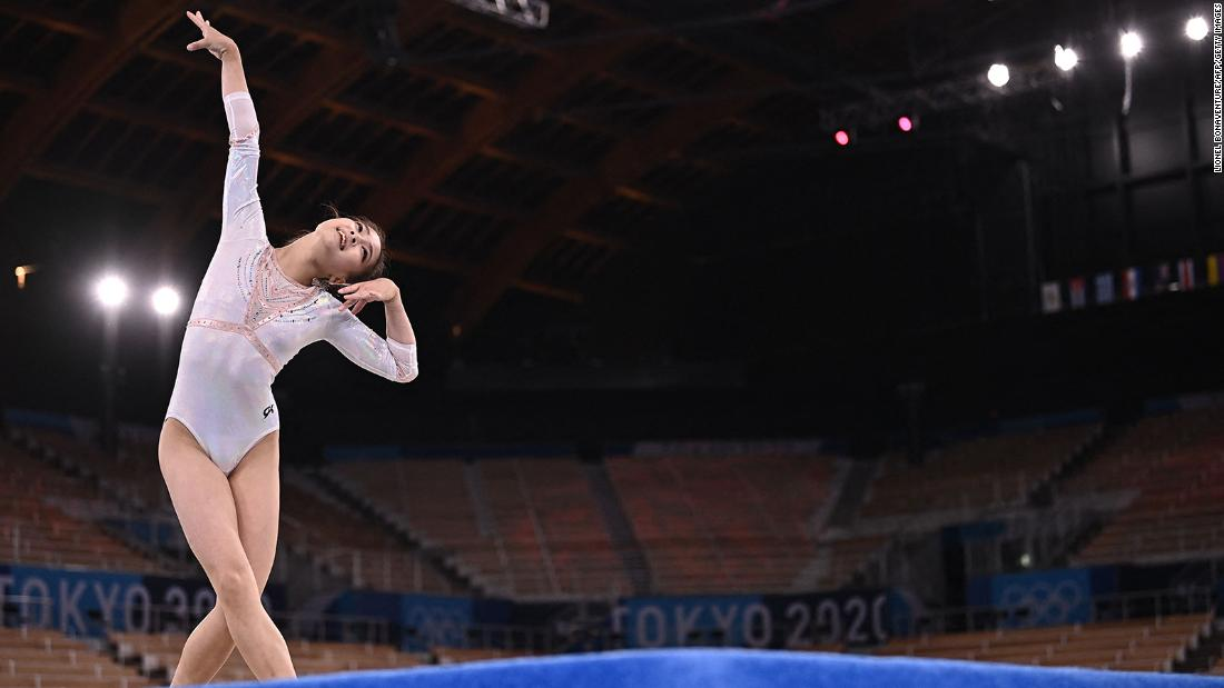 Women gymnasts must compete to music in their floor routines. The men don't. Here's why
