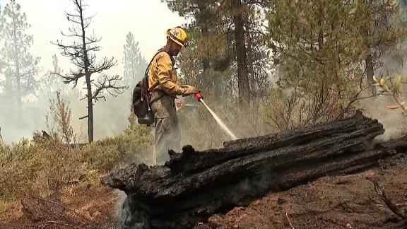 Image for 'Sounds like a train': Firefighter describes battling Bootleg Fire