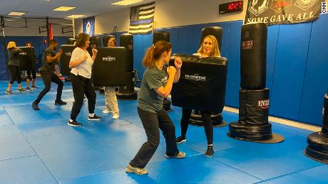 Flight attendants are getting self-defense training as the number of unruly passengers rises.