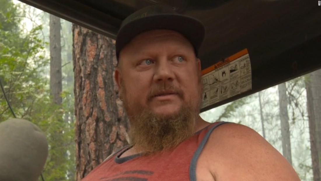 Hear why they are refusing to leave as wildfire closes in