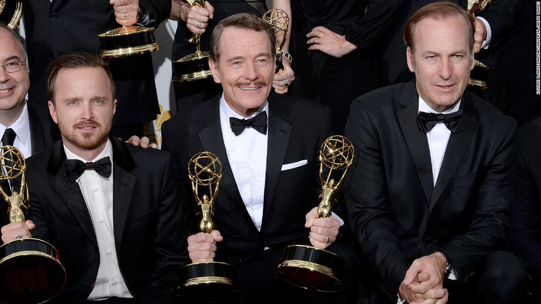 Bob Odenkirk receives well wishes from 'Breaking Bad' co-stars Bryan Cranston and Aaron Paul