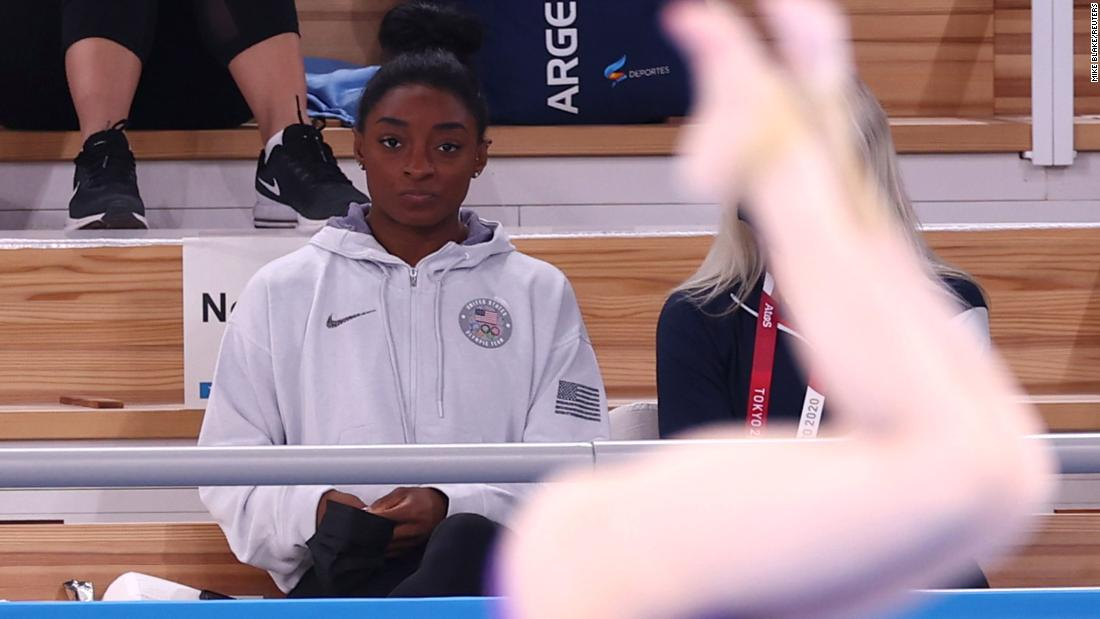 Simone Biles withdraws from vault and uneven bars finals