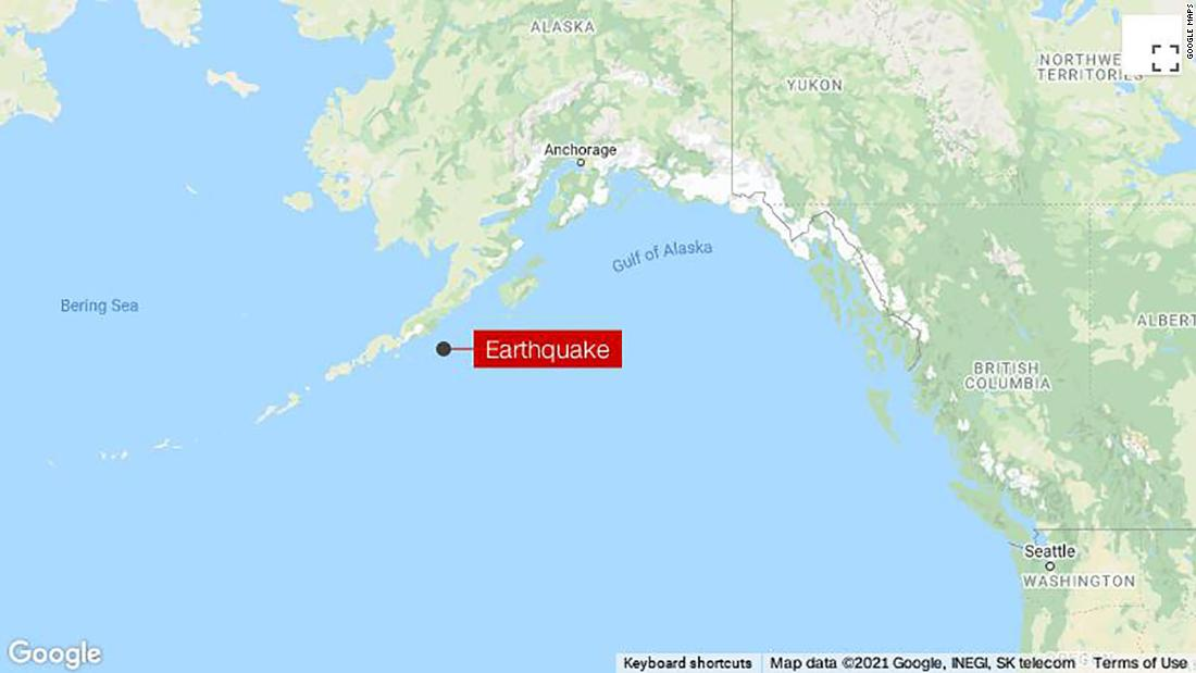 Tsunami warning in effect for parts of the Alaskan coast after an 8.2 earthquake